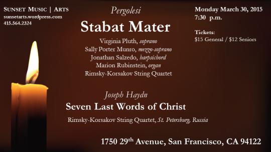 March 30 Pergolesi Stabat Mater