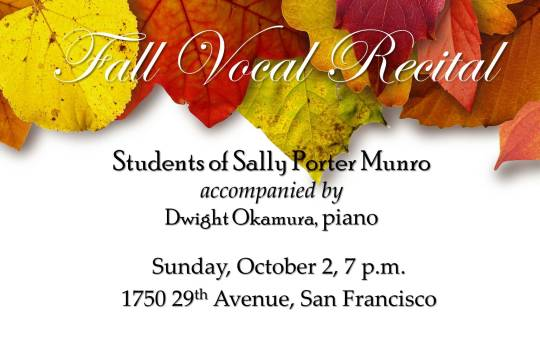SM Fall Vocal Recital