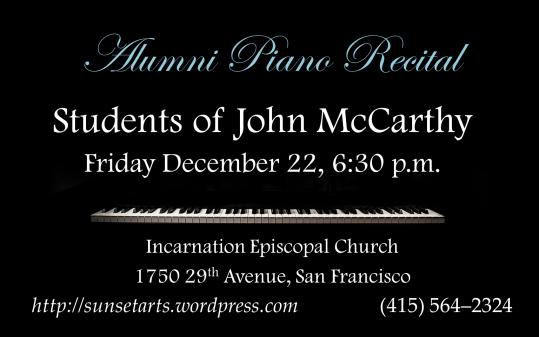 Winter Student Piano Recital