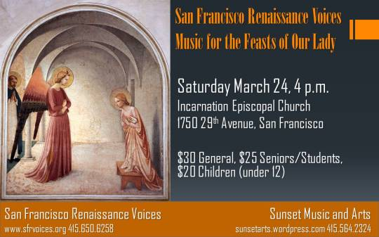 San Francisco Renaissance Voices March 24