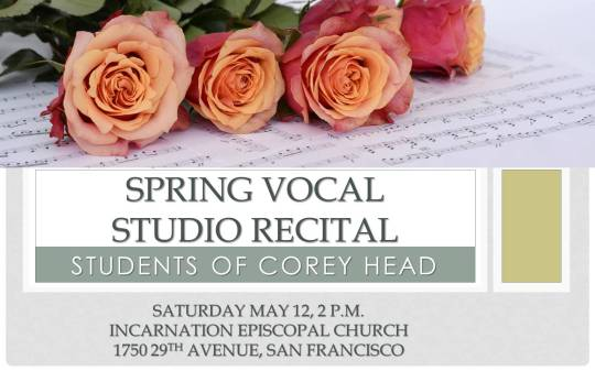 Spring Vocal Studio recital