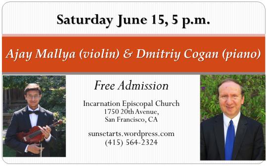 Ajay Mallya (violin) & Dmitriy Cogan