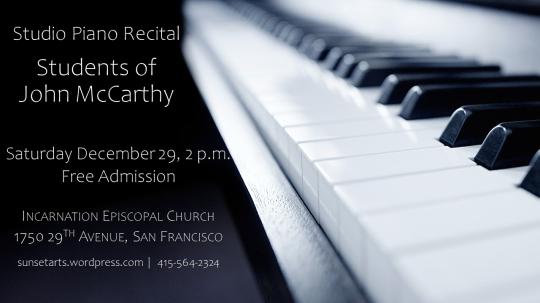 Studio Piano Recital